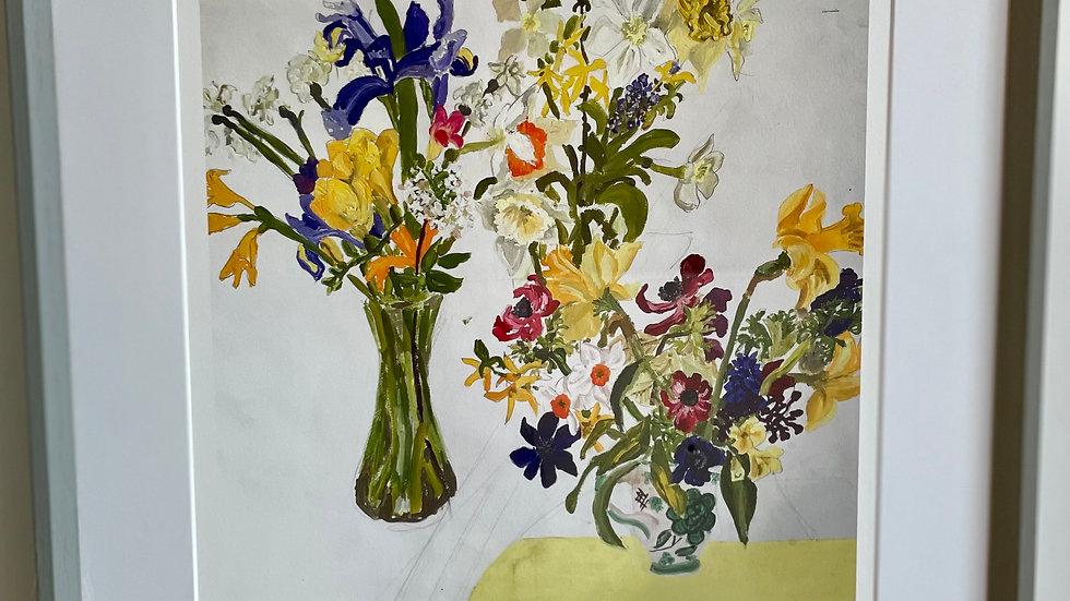 Framed Daffodil print