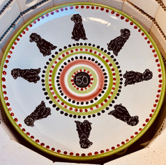 50th Birthday plate