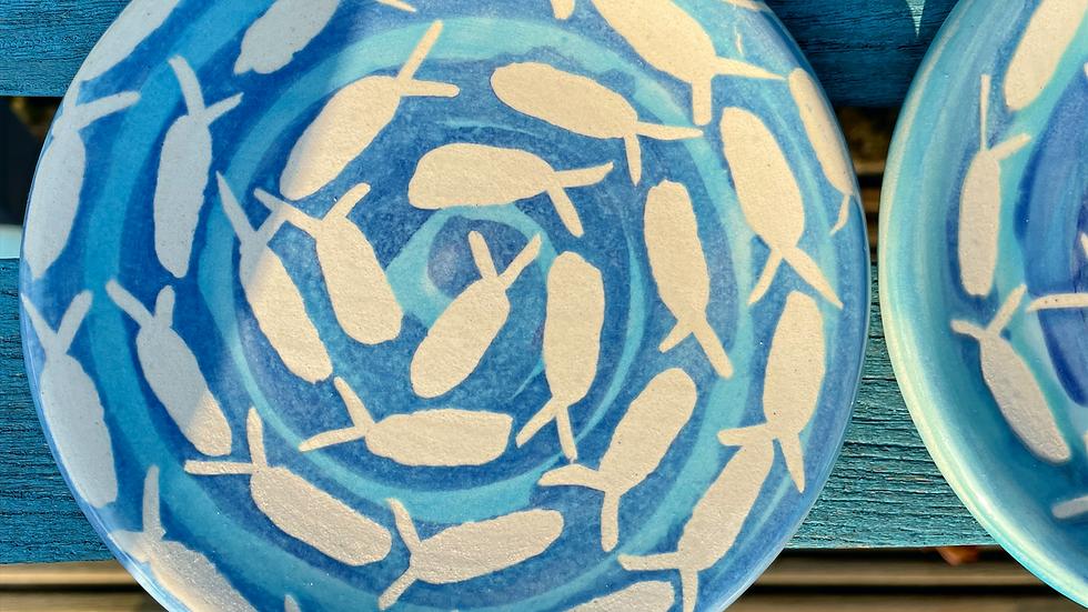 Swirling fish tapas plates