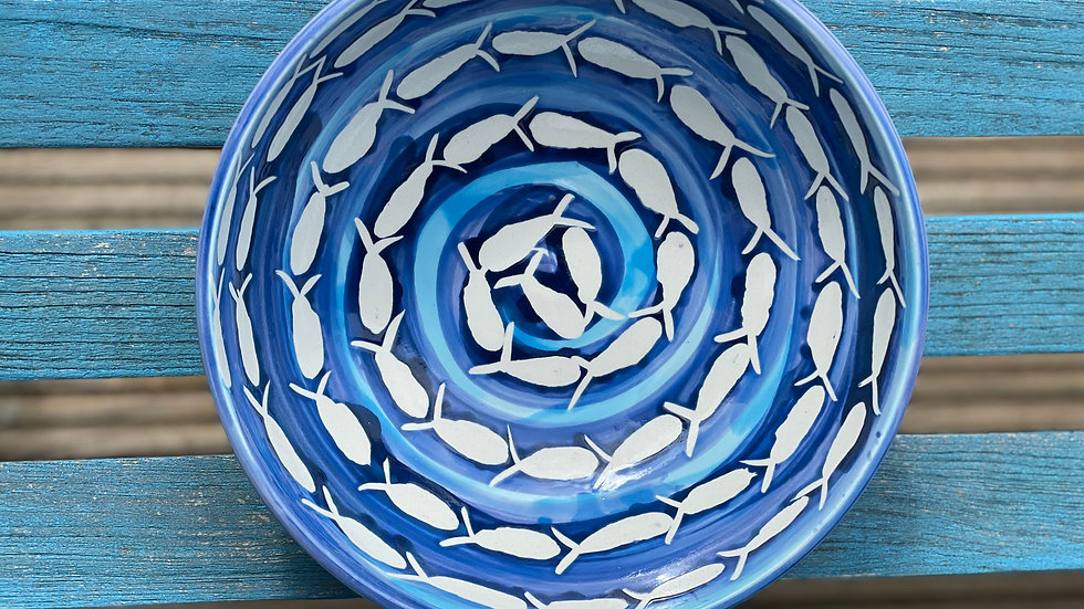 Seaside  fishy swirl bowl