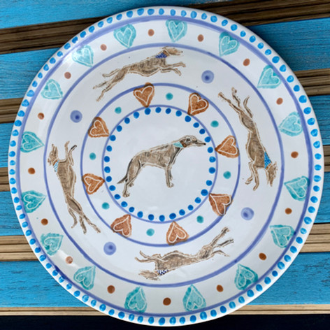Whippet design plate for Father's day