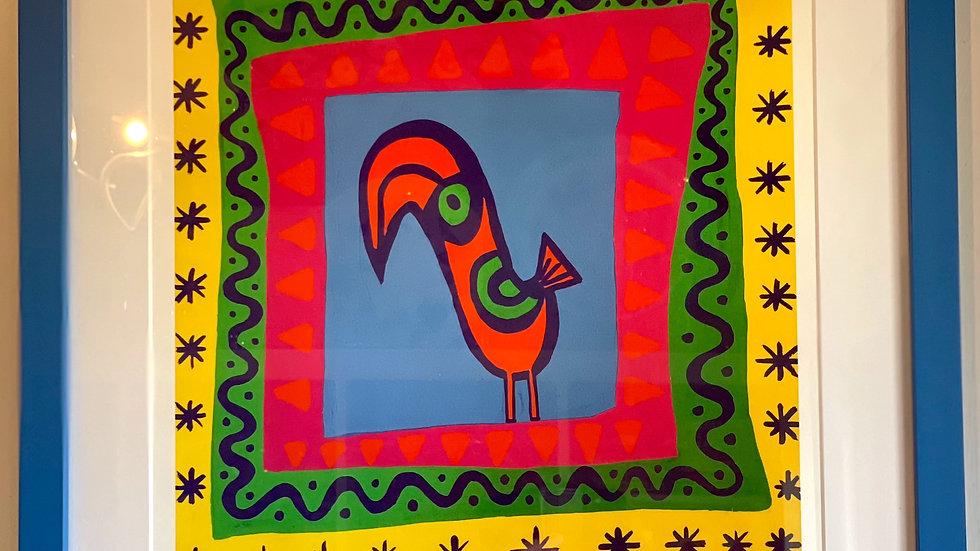 Framed toucan print