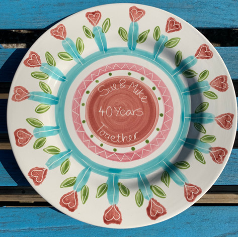 Wedding Anniversary plate