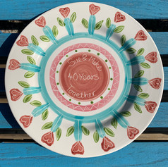 Wedding Anniversary plate