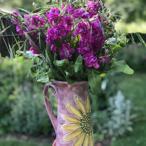 Sunflower design jug