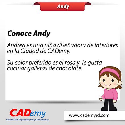 Andy personaje de CADemy