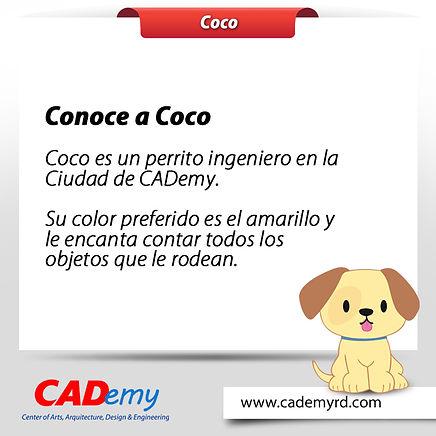 Coco personaje de CADemy