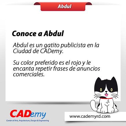 Abdul personaje de CADemy