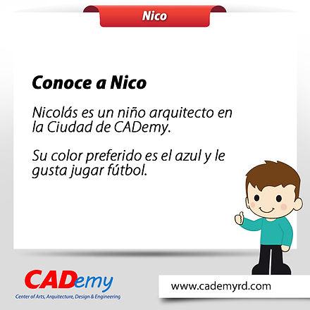 Nico personaje de CADemy
