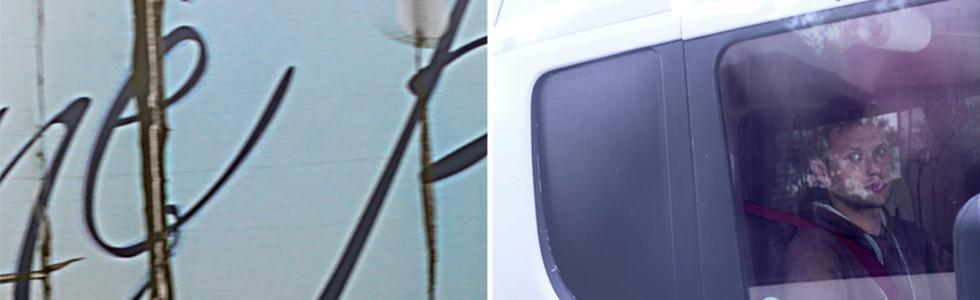 Untitled 04 (Handwritten–ANGEL), 2013, digital prints mounted on Dibond, framed diptych; each panel 100 x 66 cm