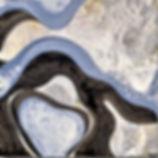 white grey light blue painting, lyme ct moden artist