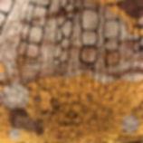 brown yellow mixed media
