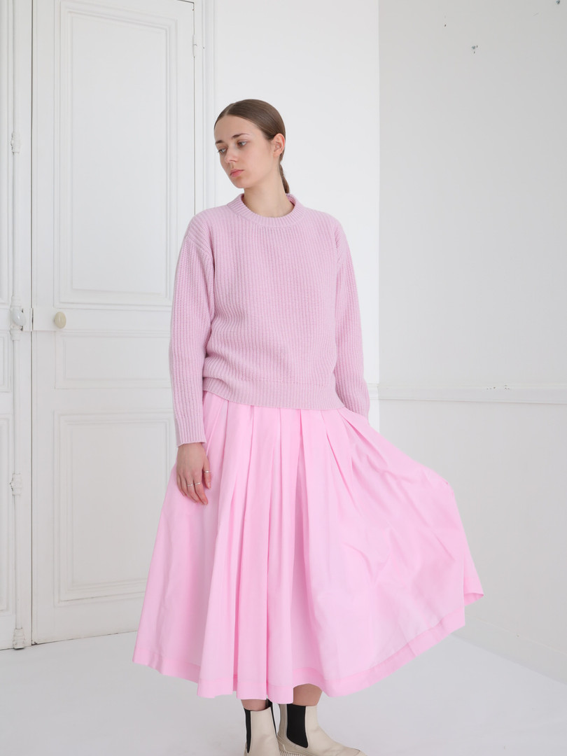 Top : KATE Lilac pink Skirt : SOLANGE Lilac pink