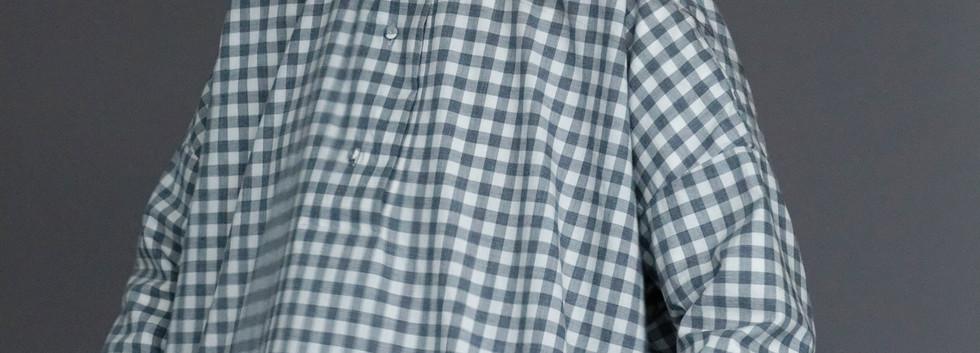 Shirt : BRIGITTE Grey check Shirt : SILVAN White