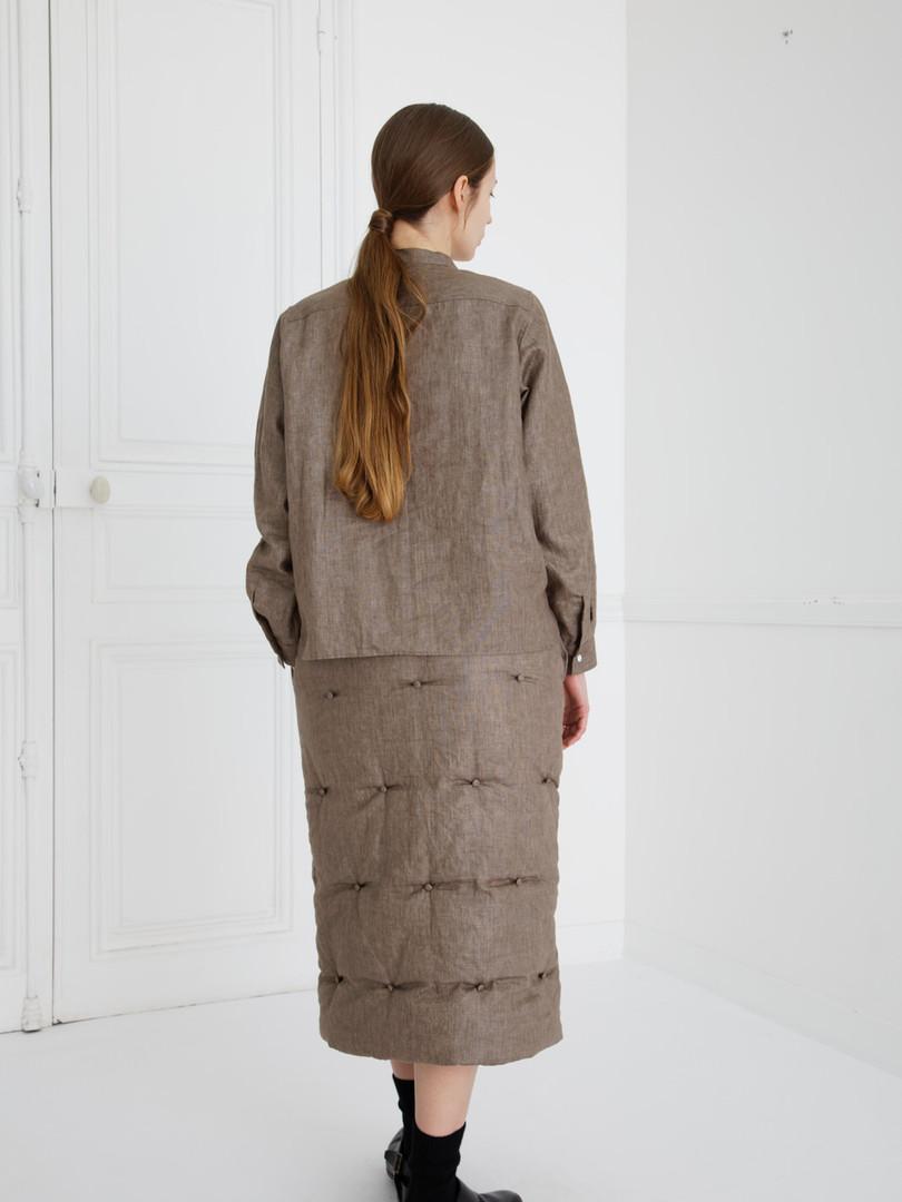 SHIRT : SCOTT Soil brown Skirt : SUSETTE Soil brown
