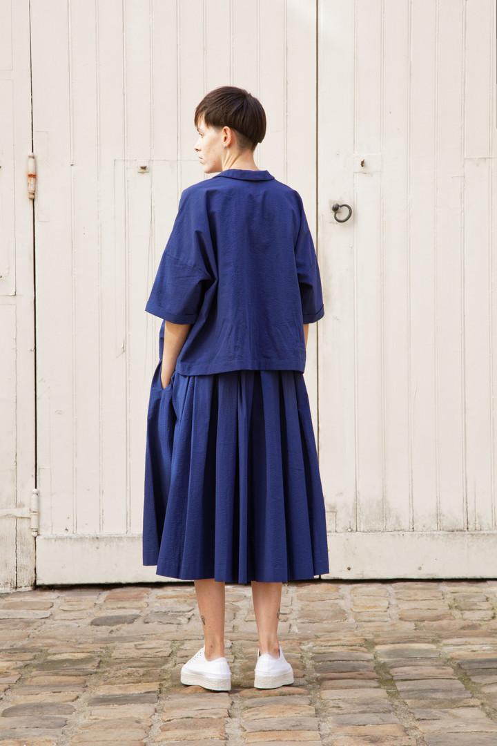 Shirt : BRIGITTE Navy Skirt : SOLANGE Navy