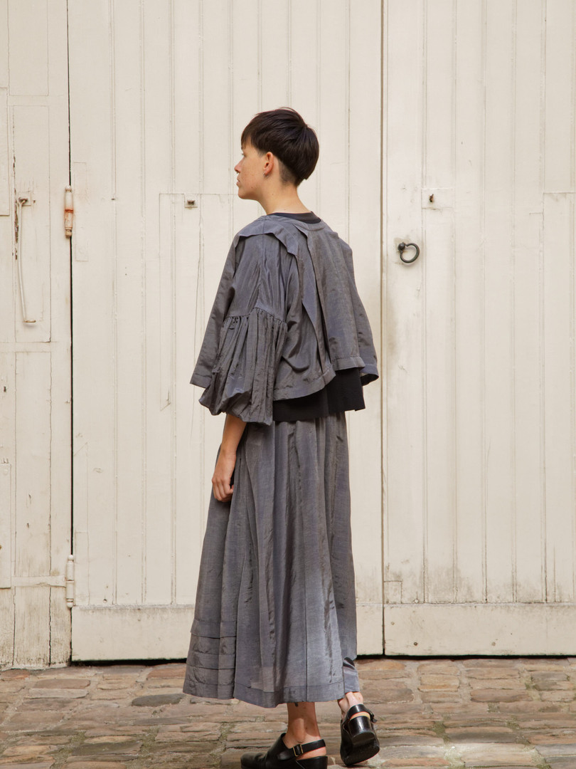 Top : TILDA  Steel grey Top : THIBAUD Black Skirt : SANDRINE Steel grey