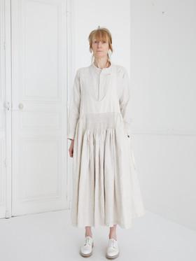Dress : LUCIE Ivory Shirt : SCOTT Linen Ivory