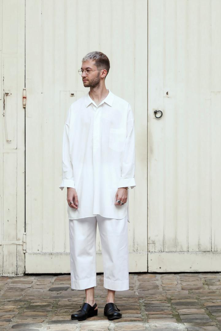 Shirt : STANLEY  White Pants : PAUL White