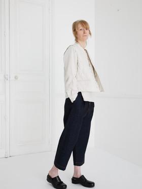 Waist coat : GILLES Ivory Shirt : SCOTT Linen Ivory Pants : PETER Indigo blue