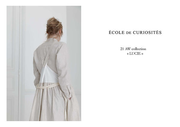 21 AW LUCIE LOOKBOOK 【ECOLE DE CURIOSITE