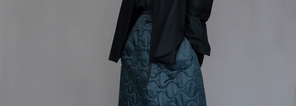 Jacket : JULIEN Shirt : SILVAN Black Skirt : STELLA Black
