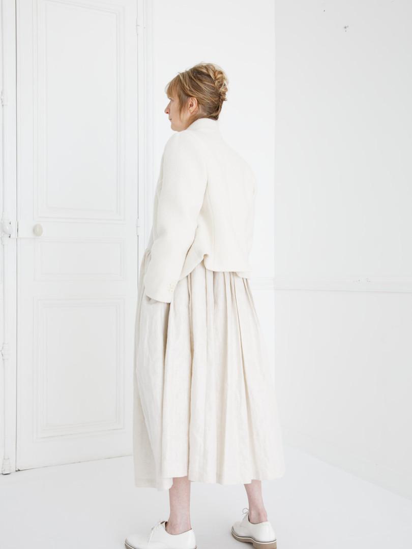 Jacket : JANE Ivory Dress : CLARA Ivory Dress : LUCIE Ivory Shirt : SCOTT Linen Ivory