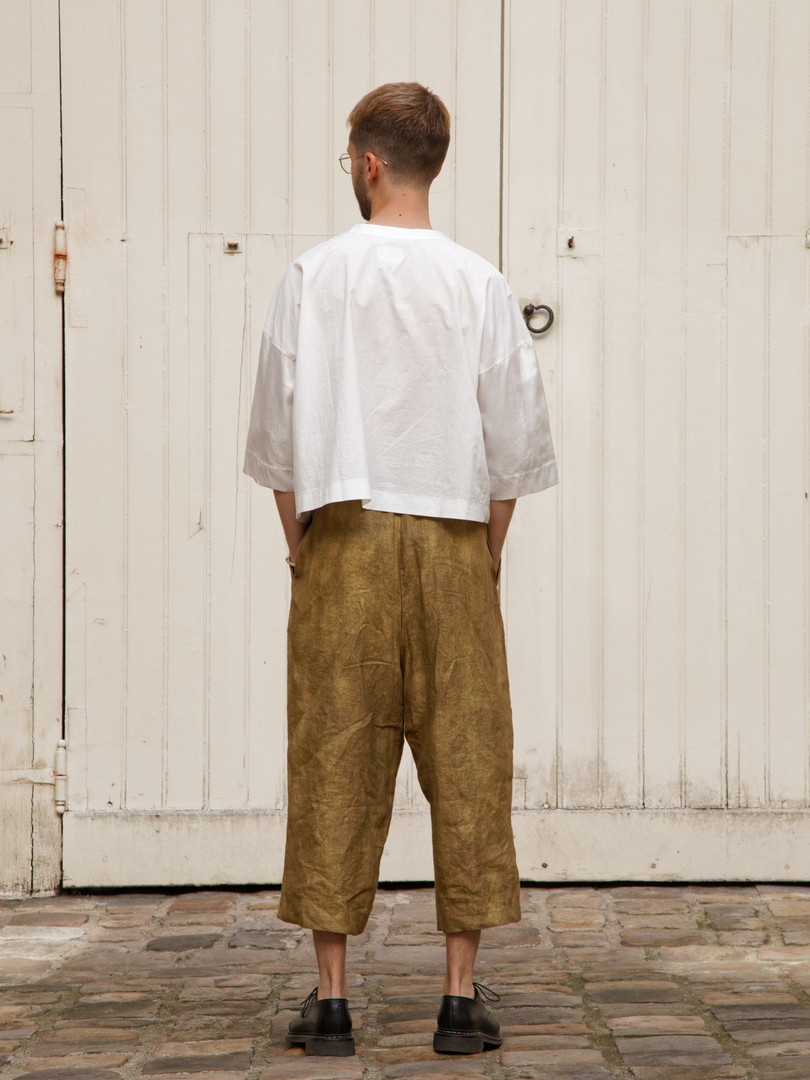 Top : THIBAUD White Pants : PIERRE Brass