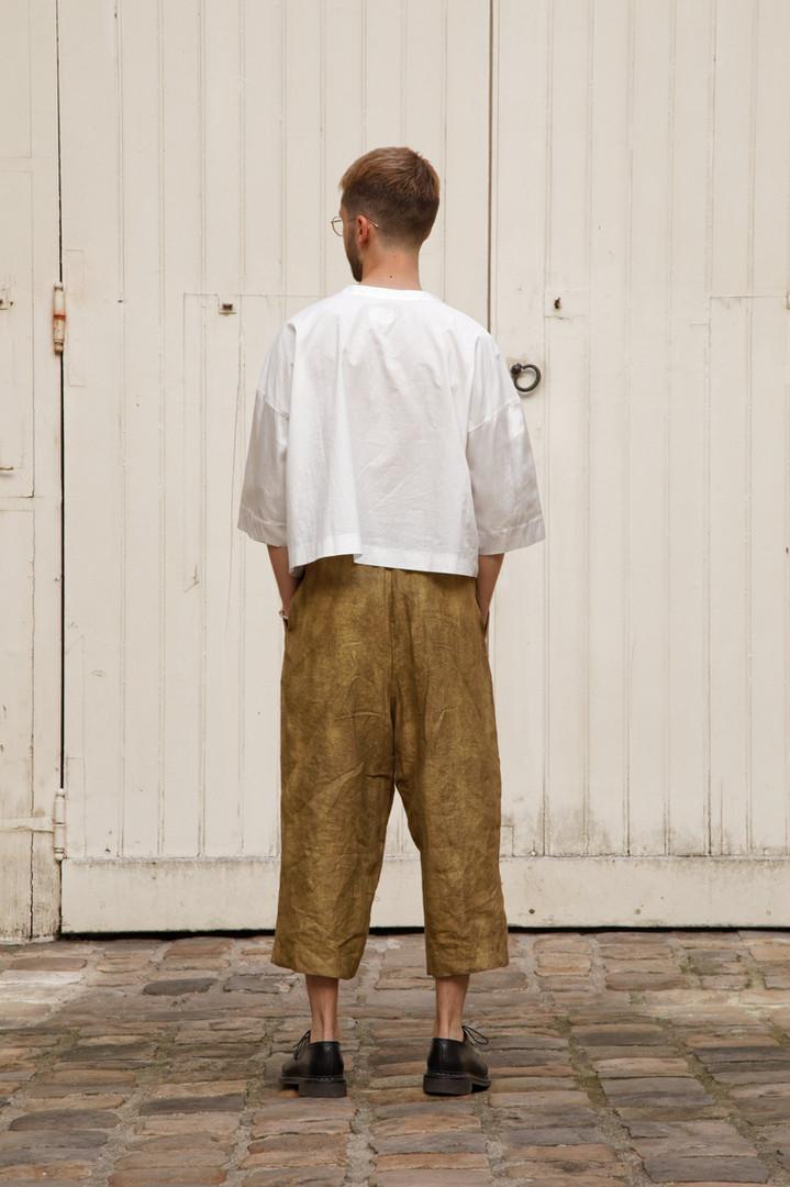 Top : THIBAUD White Pants : PIERRE Brass