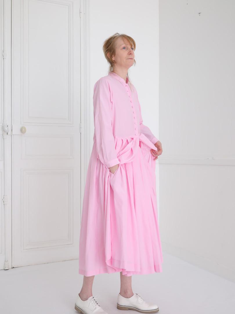 Dress : CLARA Lilac pink Skirt : SOLANGE Lilac pink