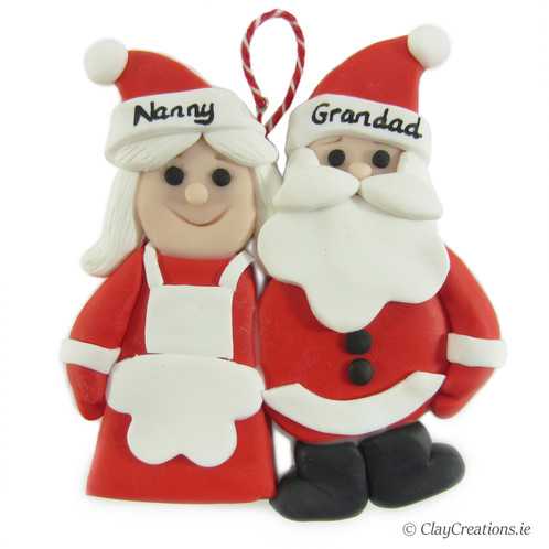 Mr Mrs Claus Custom Christmas Tree Hanging Decoration Claycreations Ie