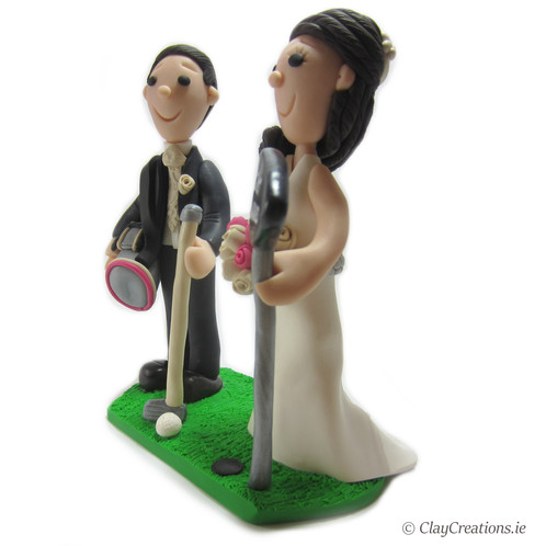 golf wedding cake toppers ireland large golf themed and groom wedding cake topper 14851