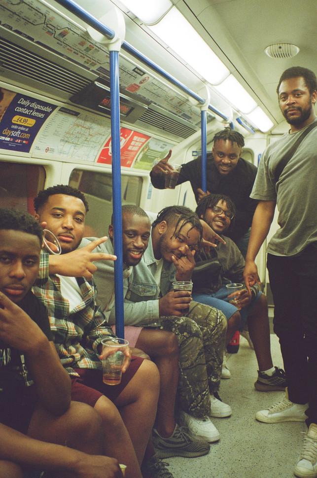 Birthday boy and friends, London 2021
