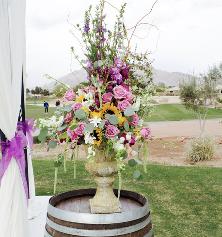 Ceremony Florals at Wedgewood Las Vegas