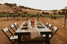 Winery Wedding Table Set Up