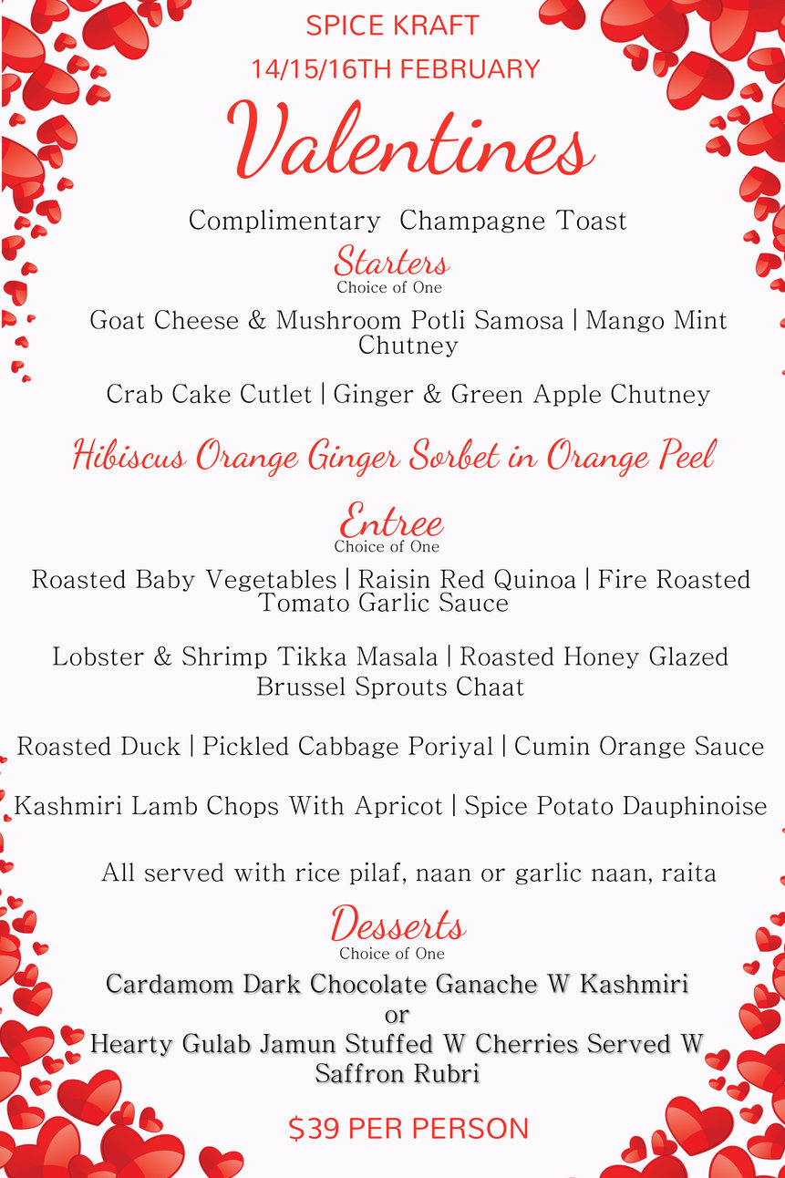 Copy of Valentines Special Menu Template