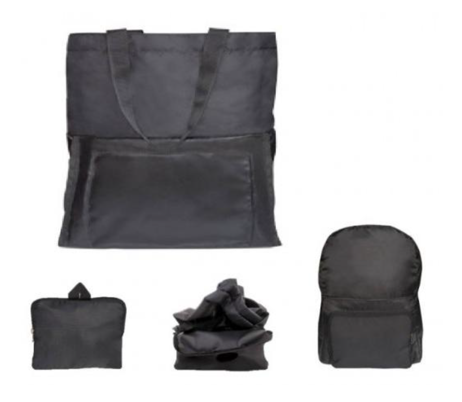 Folding Backpack with Shopping Bag