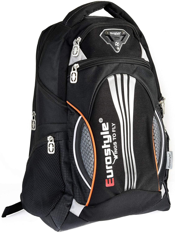 Orange & Black Backpack