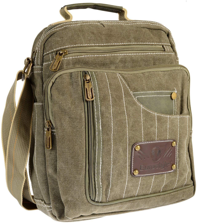 Canvas Khaki Messenger Bag
