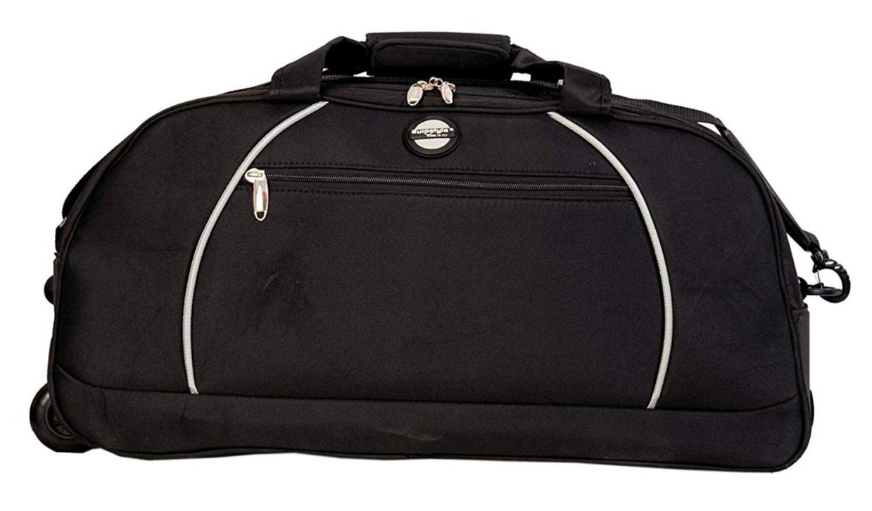Black Duffle Bag with trolley