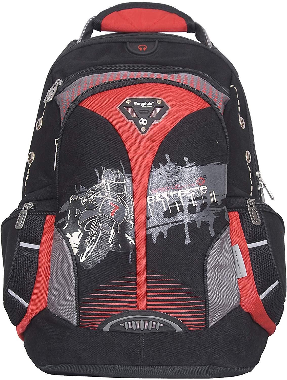 Red, Black & Grey Biker Backpack