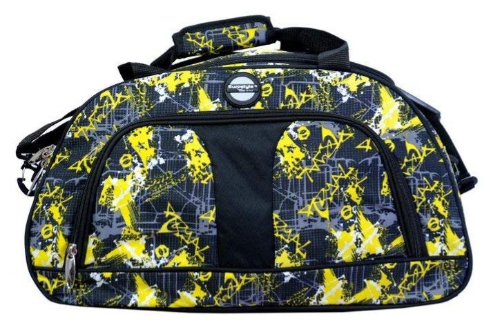 Yellow & Black Overnighter Duffle