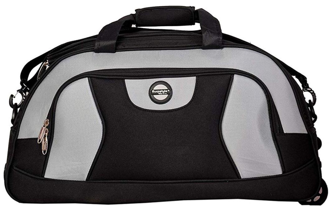 Black & Grey Duffle Bag with Trolley