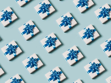 present-on-blue-background-picture-id873