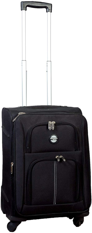"Black Trolley Travel Bag (22"")"