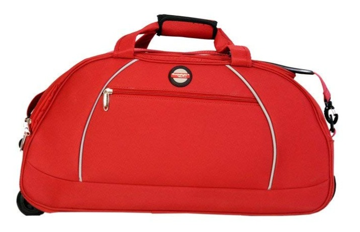 Red Duffle Bag with trolley