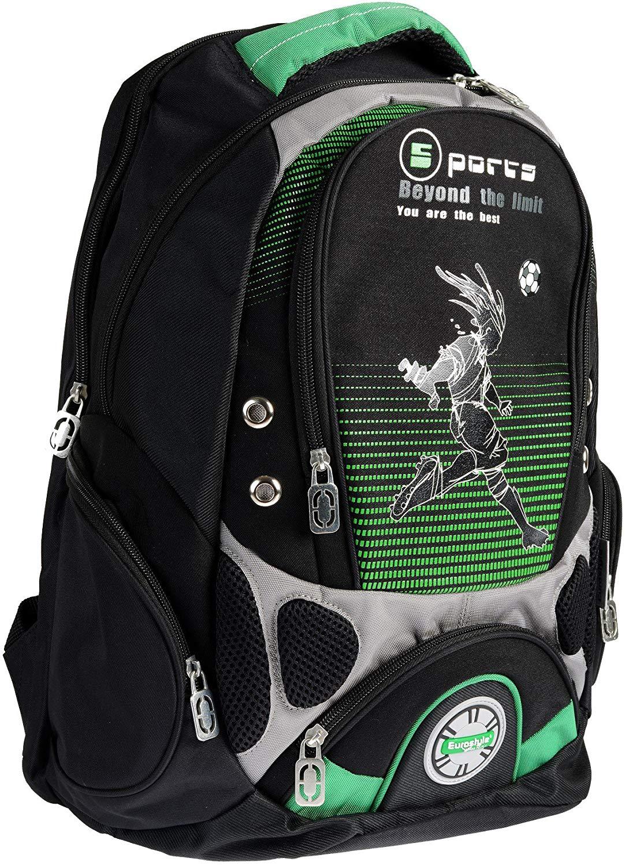 Green & Black Backpack