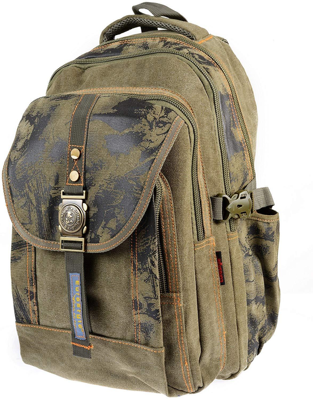 Canvas Khaki Backpack