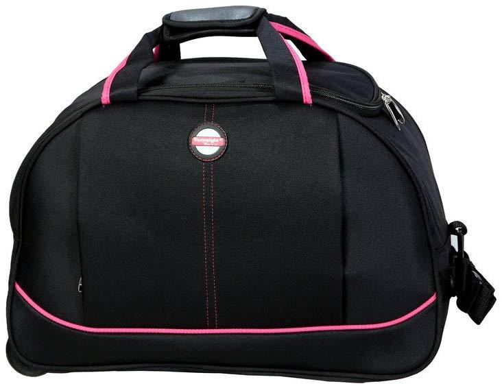 Black & Pink Duffle Bag
