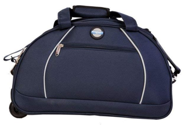 Blue Duffle Bag with trolley